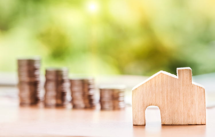 Debt Respite Scheme image of wooden house and coins