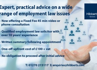 New Employment Law Service from Hibberts Solicitors